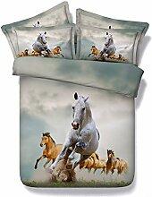 Laufende weiße Pferde- und Pferdegruppe, Satz der