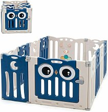 Laufgitter mit Tür und Spielzeugboard, Baby