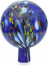 Lauschaer Glas Gartenkugel Rosenkugel mit Granulat