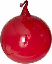 Lauschaer Glas Kugeln rot klarglas mit Glasöse 4