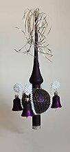Lauschaer Glas Weihnachtsbaumspitze mit Glöckchen