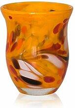 Lauschaer Glas Windlicht aus Glas mit Granulat