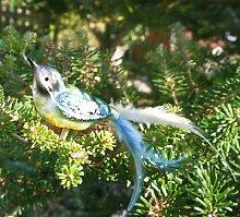 Lauschaer Glaskunst-Christbaumkugel Blaumeise mit