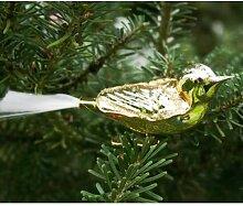 Lauschaer Glaskunst-Christbaumkugel Vogel mit
