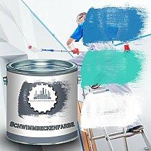 Lausitzer Farbwerke Schwimmbeckenfarbe traditionelle Poolfarbe Schwimmbadbeschichtung Betonfarbe wasserdicht in Blau Weiß und Grün