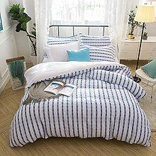 Lausonhouse 100% Baumwolle Garn gefärbt Seersucker Bettwäsche-Set - 135x200
