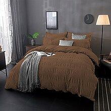 Lausonhouse 100% Baumwolle Garn gefärbt Seersucker Bettwäsche-Set - 200x220