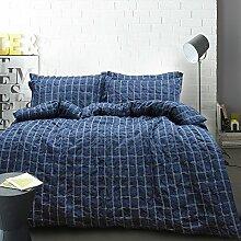 Lausonhouse 100% Baumwolle Garn gefärbt Seersucker Bettwäsche-Set - 155x220