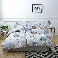Lausonhouse digitales Drucken 100% Baumwolle Bettwäsche-Set - 155x220