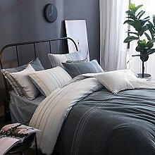 Lausonhouse Garn gefärbt 100% Baumwolle Bettwäsche-Set - 200x220