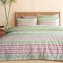Lausonhouse Garn gefärbt 100% Baumwolle Bettwäsche-Set - 200x200