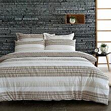Lausonhouse Garn gefärbt 100% Baumwolle Seersucker Bettwäsche-Set - 200x200