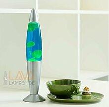 Lavalampe 35cm / grün blau/Timmy / E14 25W /