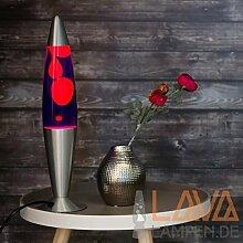 Lavalampe 42cm / Magmalampe Lavaleuchte / Lavalampe violett orange / Lavalampe Lollipop/ E14 25W / mit Kabelschalter / Geschenkidee Weihnachten / inklusive Leuchtmittel / Retro Leuchte