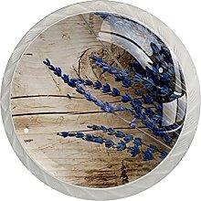 Lavendel 4 Stück Schranktürgriffe, Rundgriffe,