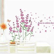 Lavendel Blumen Wandtattoos Startseite Dekorative