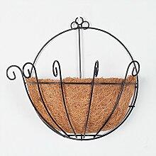 Lavendel-Emulation Blumen-Eisen gewebte Blumen-Korb-Klage-Wand-Dekoration-Ausgangsdekorative Pflanze-kreative Garten-Verzierung,A/27cm*27cm