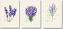 Lavendel Englisch Combina Dekorative Leinwand