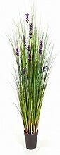 Lavendel Gras 120 cm, große Kunstpflanze hochwertig, Lavender grass Deko-Pflanze wie ech