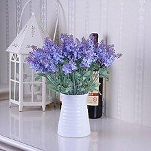Lavendel Lila Blumen Pastorale Simulation Heimtextilien Suite Wohnzimmer Innenausbau, Typ B