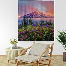 Lavendel Sonnenuntergang Berge Wandteppich Natur