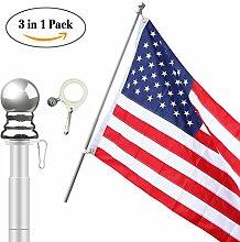Lavievert American Flagge inkl. 5ft Heavy Duty