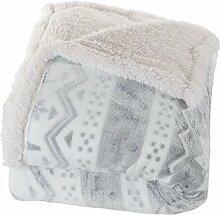 Lavish Home Fleece-Decke/Überwurf, Sherpa-Fleece,