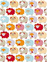 Lavmi Design Kinder Tapete Marketa, Vlies, Rot, 53