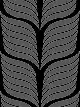 Lavmi Design Tapete Cocoa, Vlies, Schwarz 53 x 5 cm