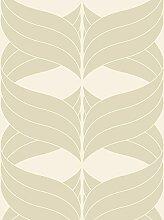 Lavmi Design Tapete Coctail, Vlies, Beige, 53 x 5 cm