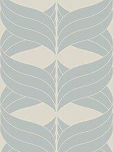 Lavmi Design Tapete Coctail, Vlies, Blau, 53 x 5 cm