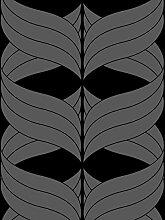 Lavmi Design Tapete Coctail, Vlies, Schwarz, 53 x