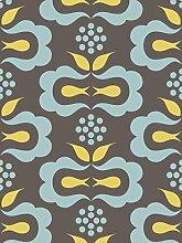 Lavmi Design Tapete Glory, Vlies, Grau, 53 x 5 cm