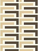 Lavmi Design Tapete Salon, Vlies, Beige, 53 x 5 cm,