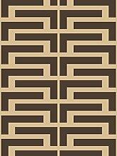 Lavmi Design Tapete Salon, Vlies, Braun, 53 x 5 cm