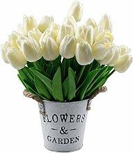 Lawei 30 Stück Tulpe Künstliche Blume Real Touch