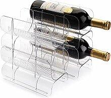 Lawei Weinregal aus Kunststoff, stapelbar,