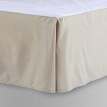 laxlinens 200Fadenzahl 100% Baumwolle elegant Finish 1Box Bundfaltenhose Bett Rock (Drop Länge: 38,1cm) Single lang, beige Massiv