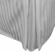 laxlinens 250Fadenzahl Elegantes Finish 1Box Bundfaltenhose Bett Rock (Drop Länge: 38,1cm) Small Double, silber grau 100% Baumwolle