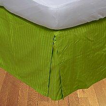 laxlinens 250Fadenzahl Elegantes Finish 1Box Bundfaltenhose Bett Rock (Drop Länge: 38,1cm) Single lang, Parrot Green 100% Baumwolle