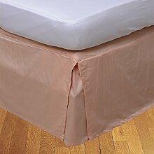 laxlinens 300Fadenzahl Elegantes Finish 1Box Bundfaltenhose Bett Rock (Drop Länge: 38,1cm) Euro groß Single, Pfirsich 100% Baumwolle