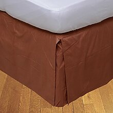 laxlinens 300Fadenzahl Elegantes Finish 1Box Bundfaltenhose Bett Rock (Drop Länge: 38,1cm) Single lang, ziegel rot 100% Baumwolle