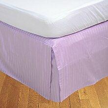 laxlinens 550Fadenzahl Elegantes Finish 1Box Bundfaltenhose Bett Rock (Drop Länge: 38,1cm) UK Single, Lavendel/Lila 100% Baumwolle