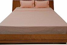laxlinens Fadenzahl 500Ägyptische Baumwolle 6Bett Blatt Set (+ 45,7cm) Extra tief Pocket Euro groß Single, Pfirsich Streifen