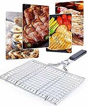 LAYXW BBQ Grillkorb abnehmbar Grillnetz