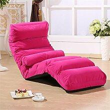 Lazy Sofa-Bett Einzelnes Tuch Falten Sofa Tatami , pink