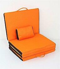 Lazy Sofa Moisture Einfache Camping Matten Rest Matte Falte Nap Pad Stealth Bett Unterbring Bett Boden Stühle Yoga Matten Größe 170 * 60 * 4cm , orange