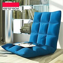 Lazy Sofa Single Klappstuhl Stuhl Bett Rücken Stuhl Picknick Stuhl Lazy Computer Stuhl Sofa Stuhl ( farbe : A4 , größe : 105*52*10cm )
