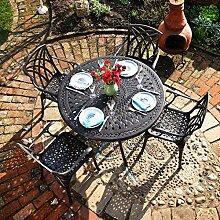 Lazy Susan - Alice 120 cm Runder Gartentisch mit 4