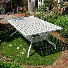 Lazy Susan Aluguss Gartenmöbel Set Weißes Sophia